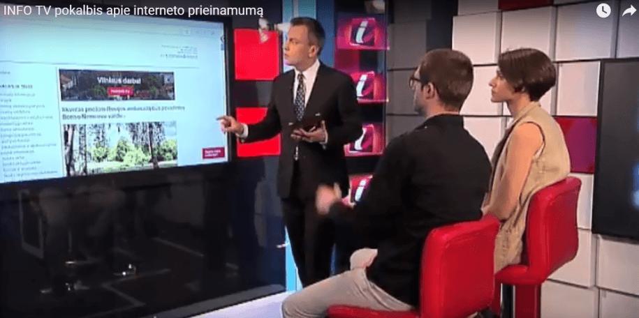 """Stop kadras iš Info TV laidos """"Info diena"""""""
