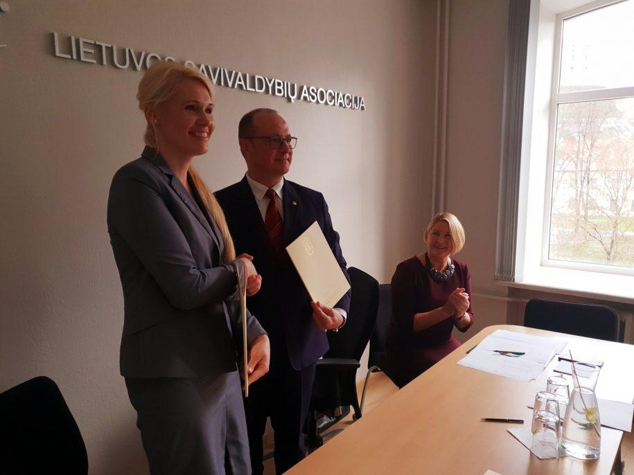 VRK pirmininkė L. Matjošaitytė ir LSA prezidentas Ričardas Malinauskas