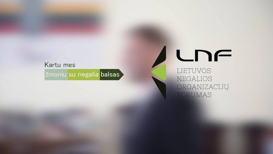 LNF logotipas su šūkiu
