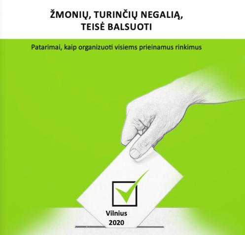 ranka metanti rinkimų biuletenį į balsadėžę