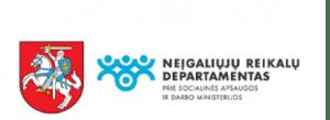 Neįgaliųjų reikalų departamento logo